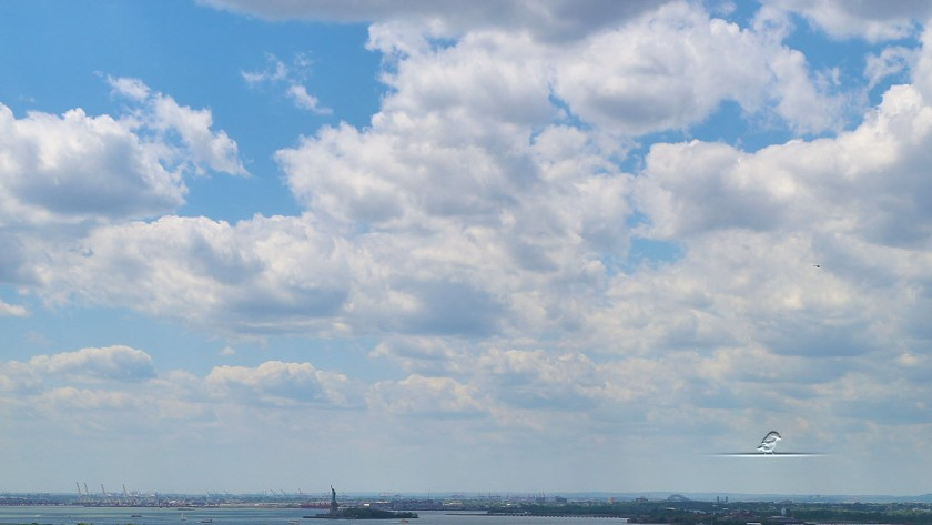 Liberty Island from 124 Columbia Heights.